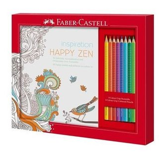 Faber-Castell Ausmalset HAPPY ZEN mit 8 Colour GRIP